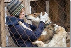 Субботник в приюте от 27 марта 2011 года. Общение с собакам
