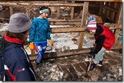 Волонтеры за уборкой снега