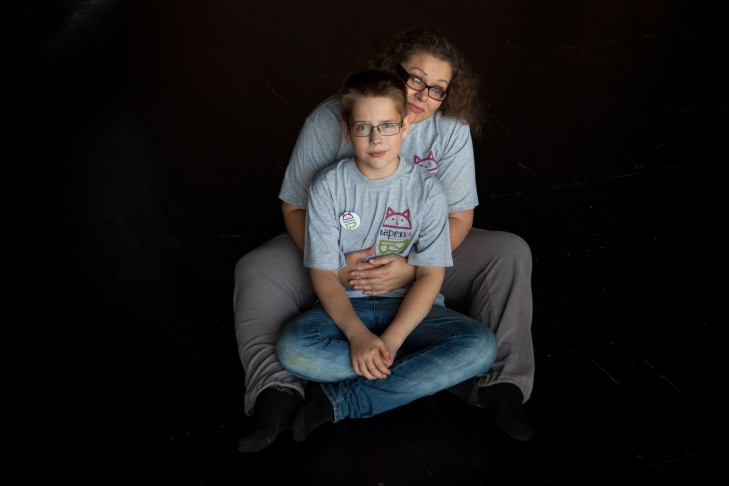 Лариса с сыном